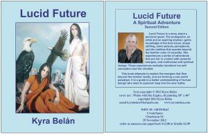My novel Lucid Future front and back covers
